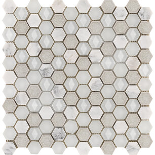 Aura Hexagon Whites 30x29x0,8 cm