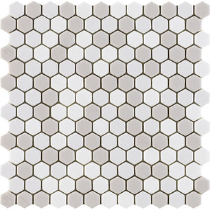 Glaze Hexagon Beiges Matt 30x29,6x0,6 cm