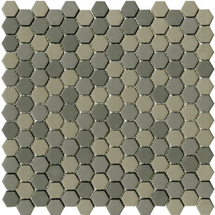 Glaze Hexagon Greys Matt 30x29,6x0,6 cm