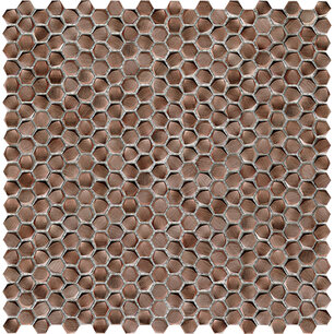 Gravity Aluminium Hexagon Copper 30,7x30,4x0,36 cm